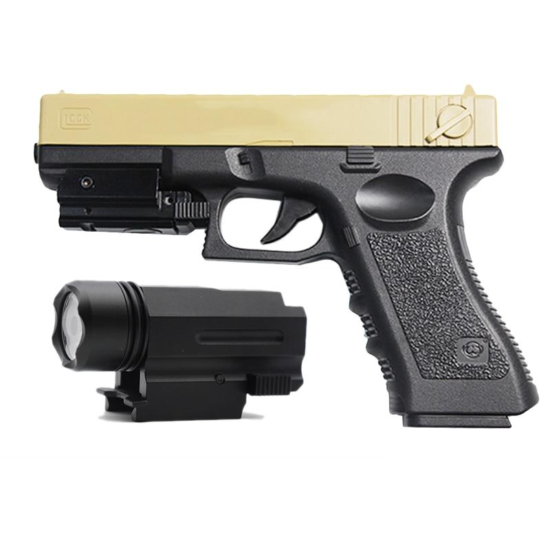 Tactical Flashlight laser Sight For Glock 17 19 18C 20mm Rail Airsoft Pistol Light Quick Detach Handgun LED Hunting accessories