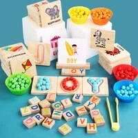montessori wooden letters matching clip beads building blocks childrens educational toys early education puzzle teaching aids