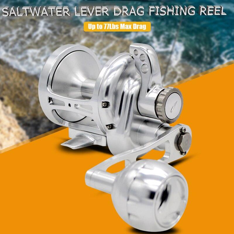 Topline Tackle Langsam Jigging Reel Fishing Rad CNC Aluminium Legierung Voll Metall Langsam Jig Angeln Reel Salzwasser Boot Reel 4,9 1
