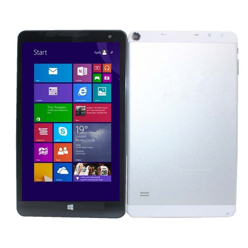 8 pulgadas ME Windows 8,1 Tablet PC 1280x800 IPS Z3735F Quad Core 1 + 16GB GPS Wifi cámaras Dual 32-bit HDMI Bluetooth
