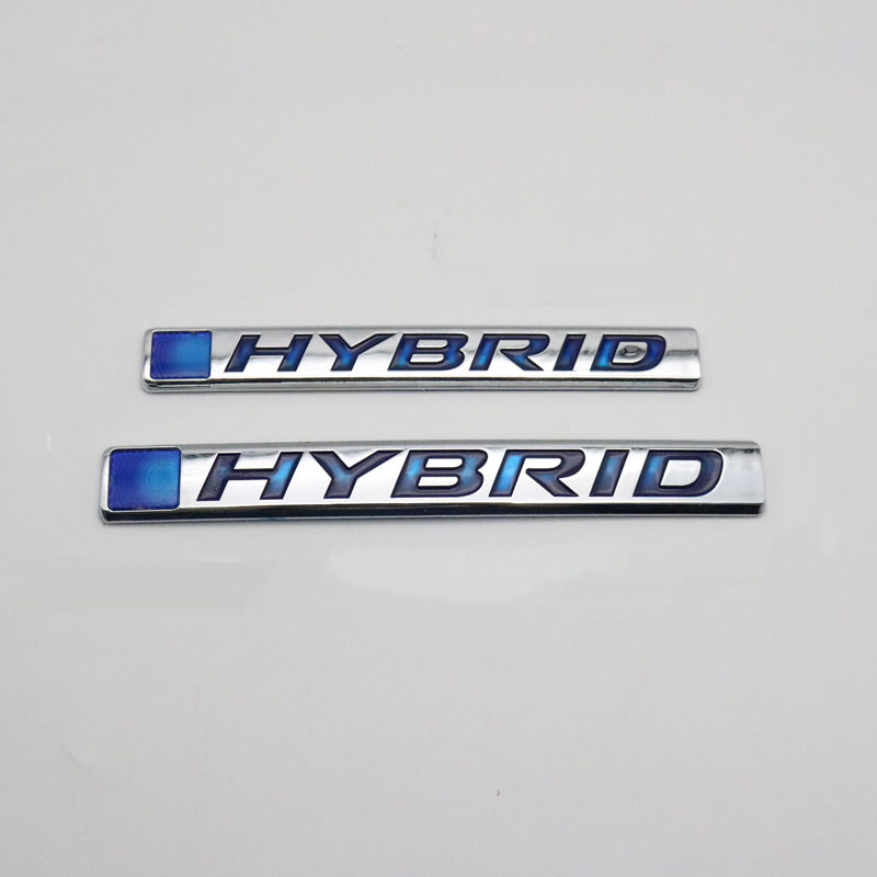 For Toyota Camry Rav4 Reiz Lexus BMW Audi Honda ACCORD HYBRID Emblem Car Styling 3D Sticker Car Refitting Badge Nameplate