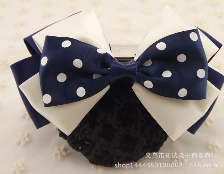 Professional head flower bank nurse Korean version bow net head flower hair accessories girl hair tie handmade ribbon gift