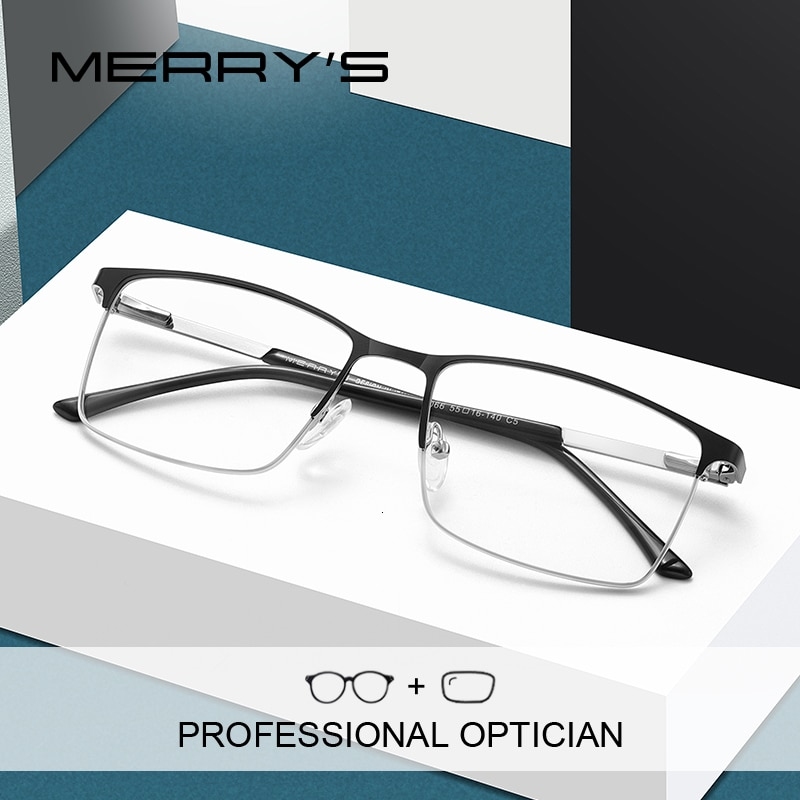MERRYS DESIGN Men Fashion Prescription Optical Glasses Square Myopia Eye glasses Male Business Style