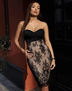 2019 New black Women elegance dress Strapless Vestidos Celebrity evening party bodycon bandage dresses