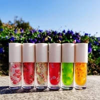 lipgloss oil base private label kids custom unbranded fruit flavor strawberry small tube clear beautiful lip gloss