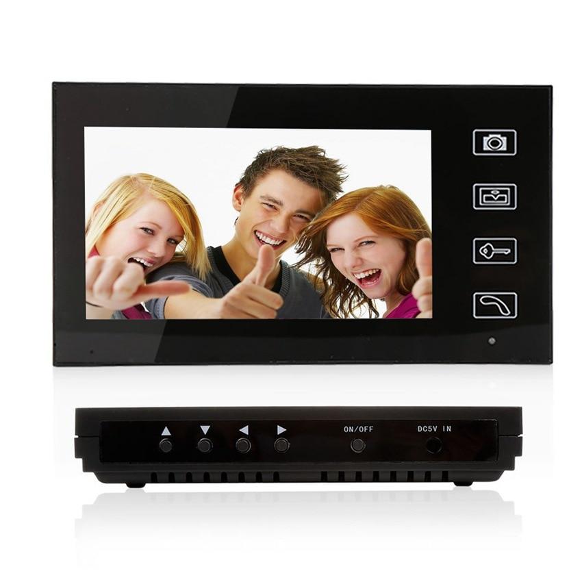 7 Inch Wireless Video Doorbell System Villa Video Door Intercom Equipment Remote Open Electronic Lock Built-in Battery enlarge