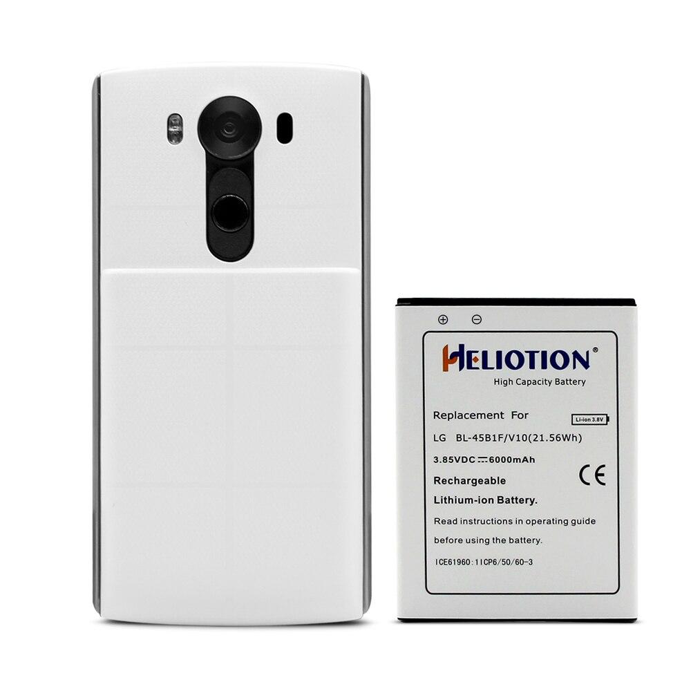 Batería V10 para LG V10 VS990 H901H961, Bl-45B1F, batería extendida de 6000mAh con funda negra