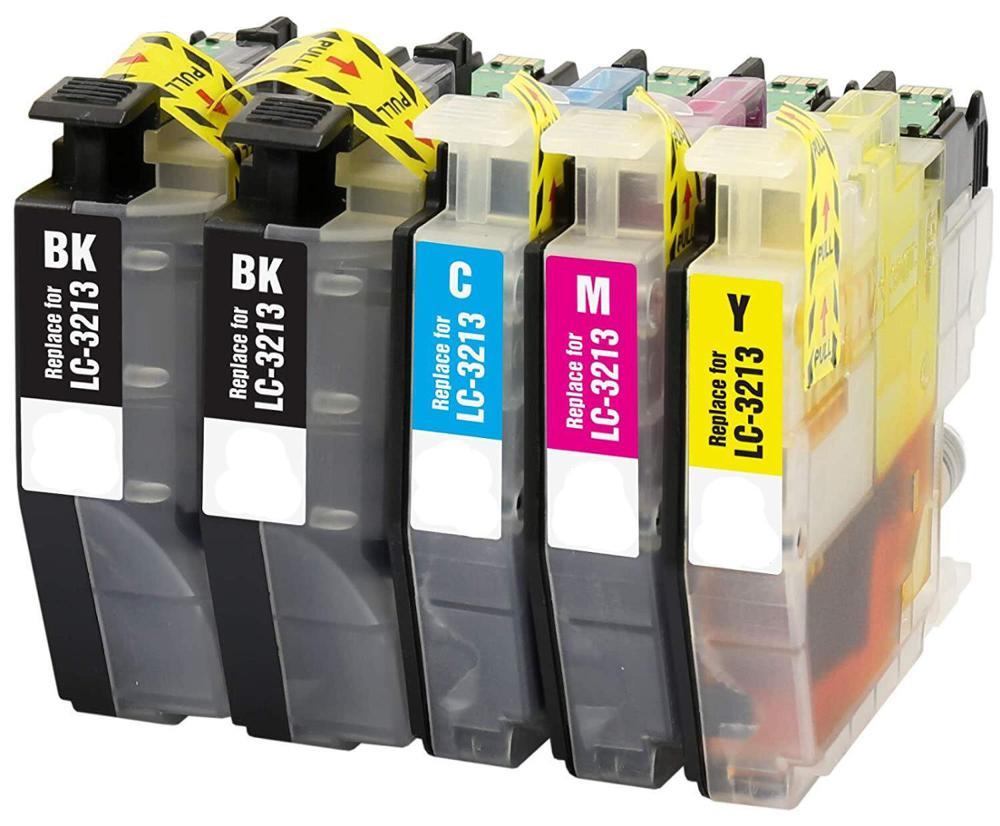 Cartouche dencre compatible 5PK LC3213 pour Brother DCP-J572DW / J772DW / J774DW, MFC-J491DW / J497DW / J890DW / J895DW