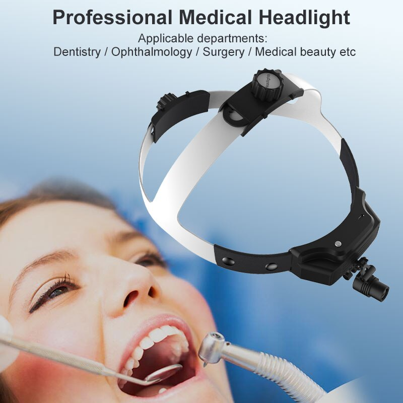 Dental Headlight LED Medical Headlamp USB Rechargeable for Dentistry Operation ENT Stomatology Plastic Surgery with Battery enlarge