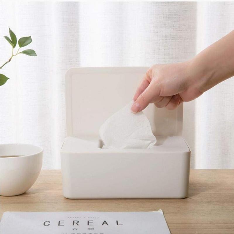 Tissue Holder Dry Wet Tissue Paper Case Care Baby Wipes Napkin Storage Box Holder Container Wipes Dispenser Home Tissue Boxes