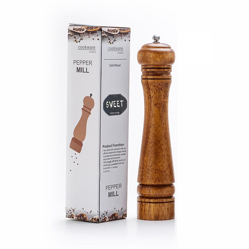 5 8 10 Manual Pepper Grinder Oak Wood Salt And Pepper Mill Multi-purpose Cruet Kitchen Tool With Ceramic Grinder