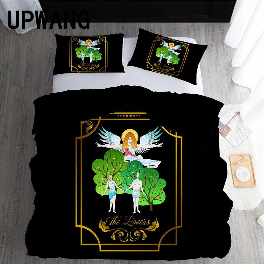 UPWANG 3D Bedding Set Magic Tarot Printed Duvet/Quilt Cover Set Bedcloth with Pillowcase Bed Set Home Textiles