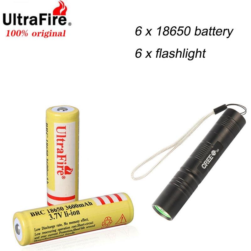UltraFire-بطارية ليثيوم أيون قابلة لإعادة الشحن ، 18650 أصلي ، 3.7 فولت ، 3600 مللي أمبير ، جودة عالية ، هدية مصباح يدوي ، ألعاب