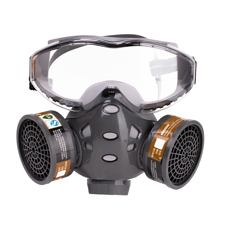 Gas/Dust Mask With Filters Actived Carbon Safety Goggles Protective for Spray Paint Pesticide Decoration Formaldehyde Respirator high quality respirator gas mask brand practical type protective mask painting pesticide industrial safety chemical gas mask