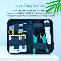 11pcs/set RJ45 RJ11 RJ12 CAT5 CAT5e lan network cable tester Crimping Pliers + Network Crystal Head + Stripper+screwdriver