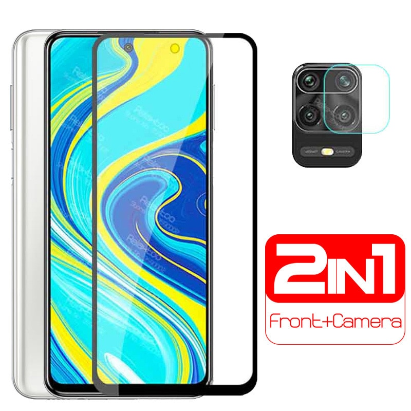 Cristal protector de Cámara 2 en 1 para xiaomi redmi note 9s redmy readmi note9 pro max not 9pro protector de pantalla película de lente 6D