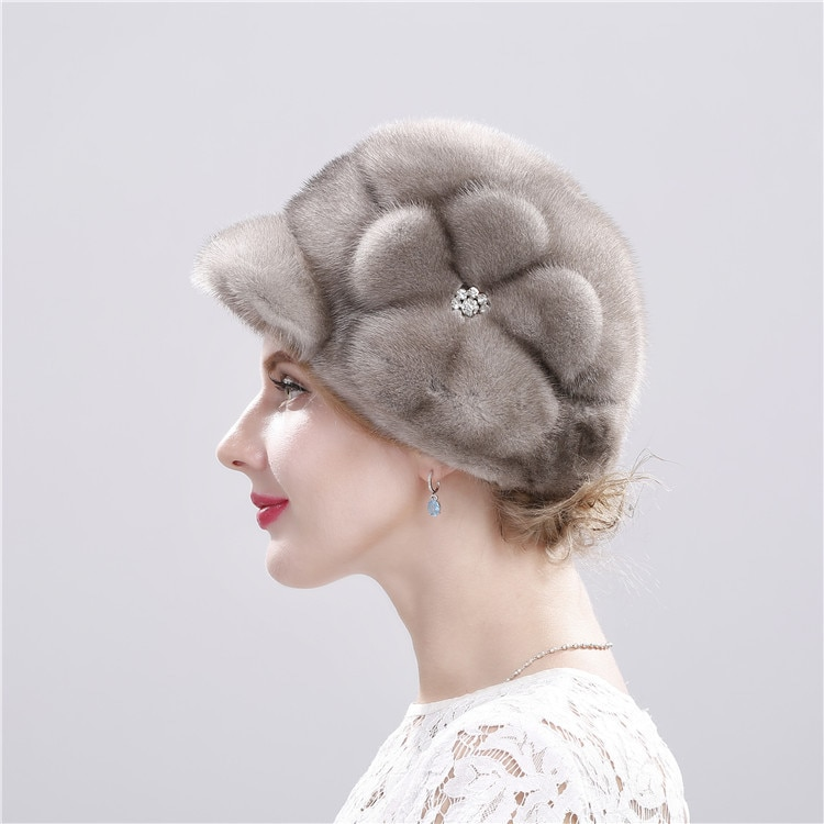 Hat Natural Mink Fur Luxury Fashion Brand Women's High Quality Hats Keep Warm In Russian Winter Lady  Fur Hat New Arrival Caps