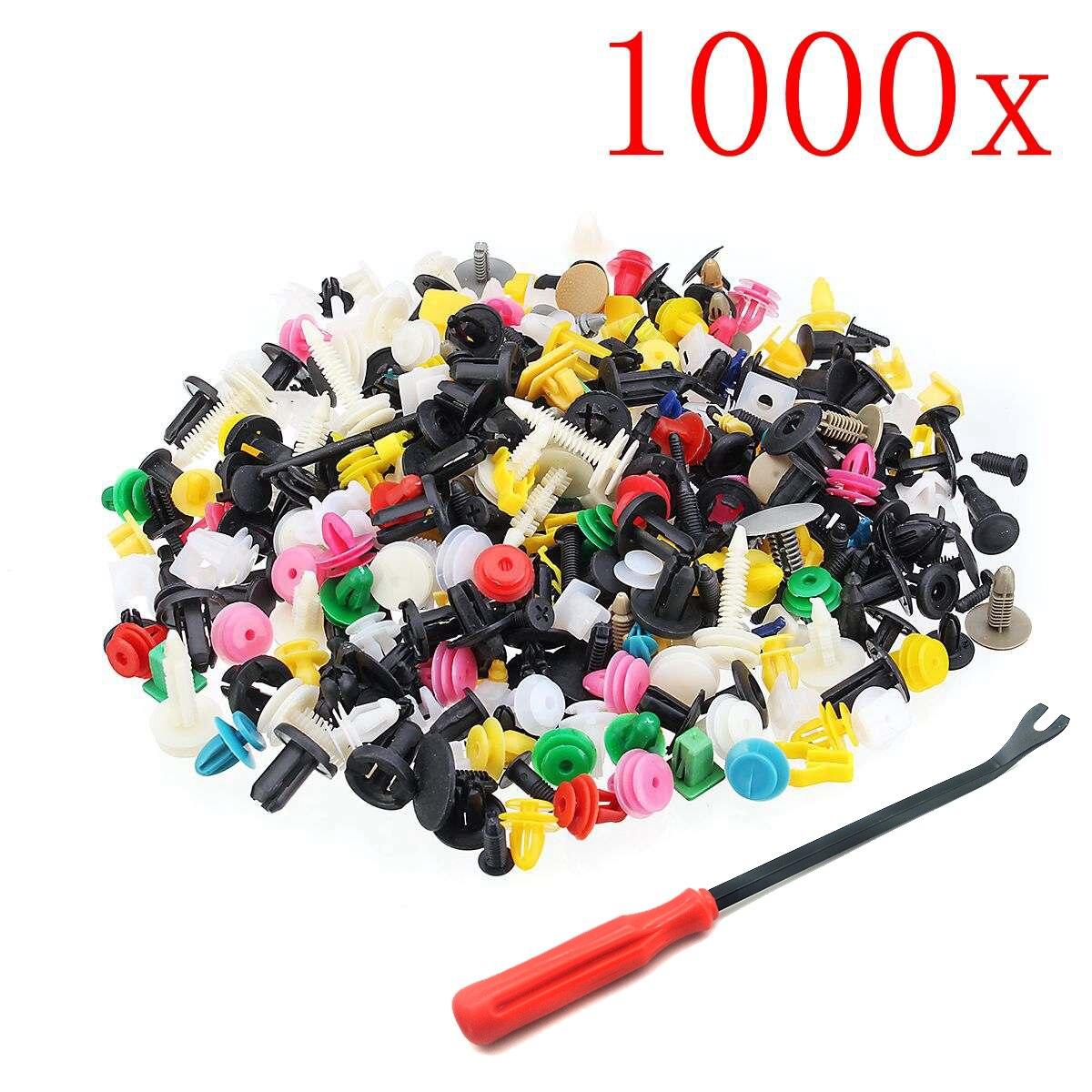 1000 Uds 30 tipos Universal mixto sujetador para el Auto parachoques Clips...