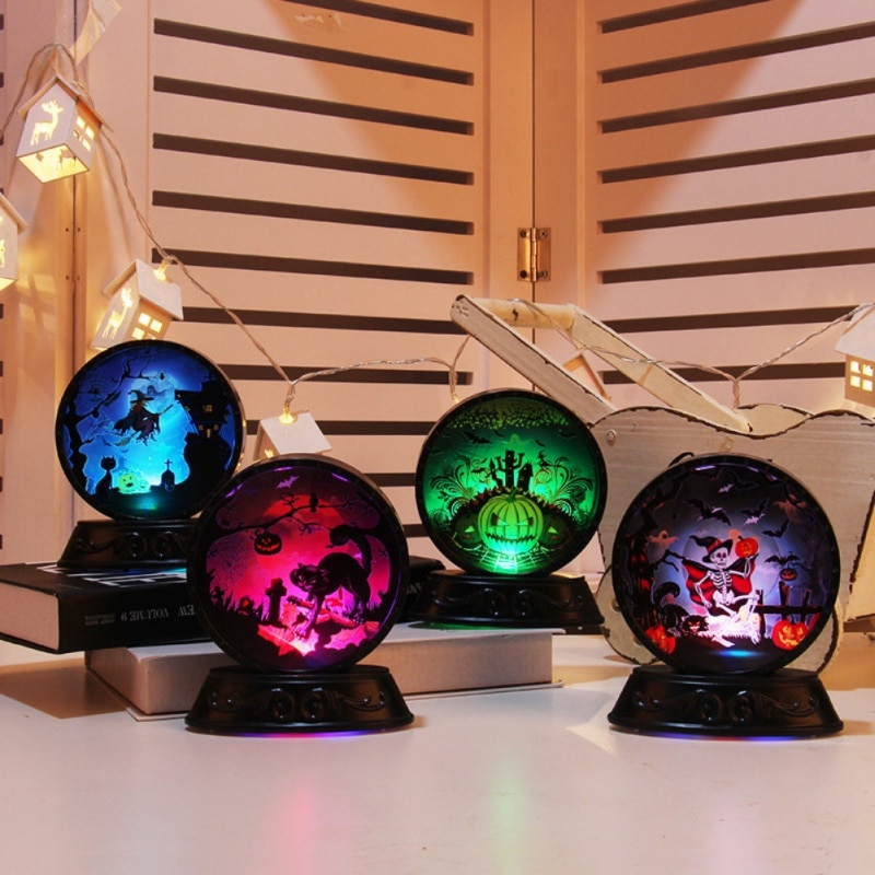 Lámpara decorativa de Halloween con pilas luz de noche de escritorio para iluminación navideña de decoración de Bar en casa festiva de interior