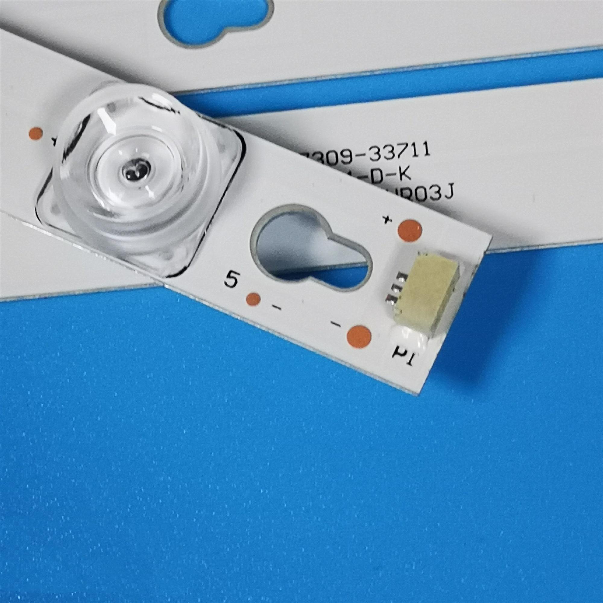 80pcs LED strip 4C-LB5005-HR04J 50D2900AB 50HR330M04B9 50HR330M05A9 For TCL L50E5800A-UD D50A810 L50P2-UD D50A630U enlarge