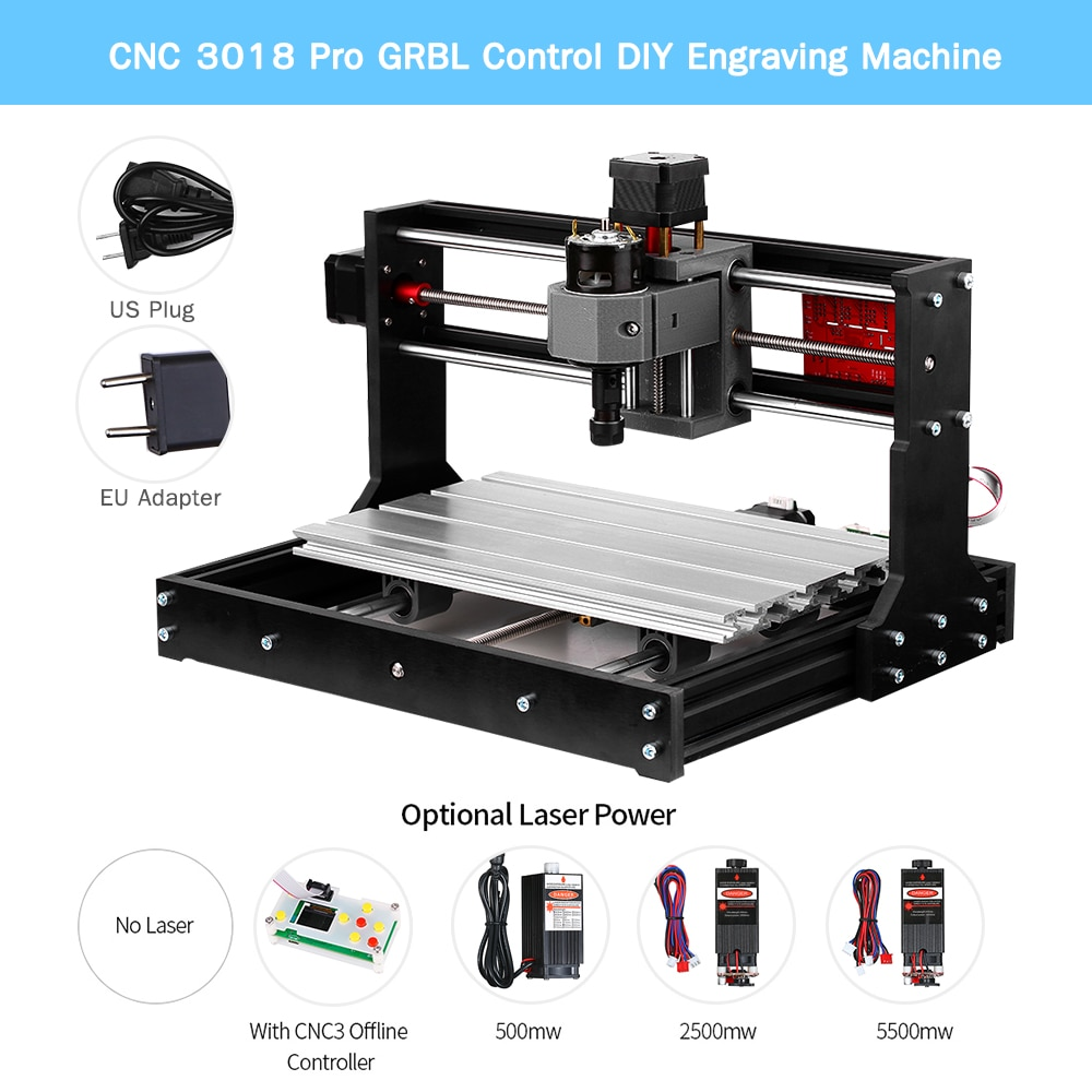 Upgrade Version CNC 30*18 Pro GRBL Control DIY CNC 3 Axis Pcb Milling Machine Wood Router Engraver with Offline Controller enlarge