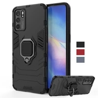 for cover oppo reno6 5g case magnetic ring kickstand holder shockproof tpu bumper armor back cover reno 6 phone case reno 6 5g