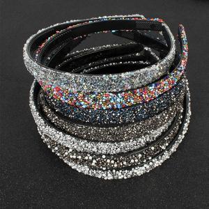 Роскошные головные повязки Стразы с кристаллами и жемчугом Модные женские аксессуары для волос головной убор мягкие повязки для волос блестящие обручи для волос