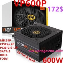 Nouveau PSU pour marque Antec jeu Non modulaire alimentation muet 600W/500W alimentation VP600P VP500P
