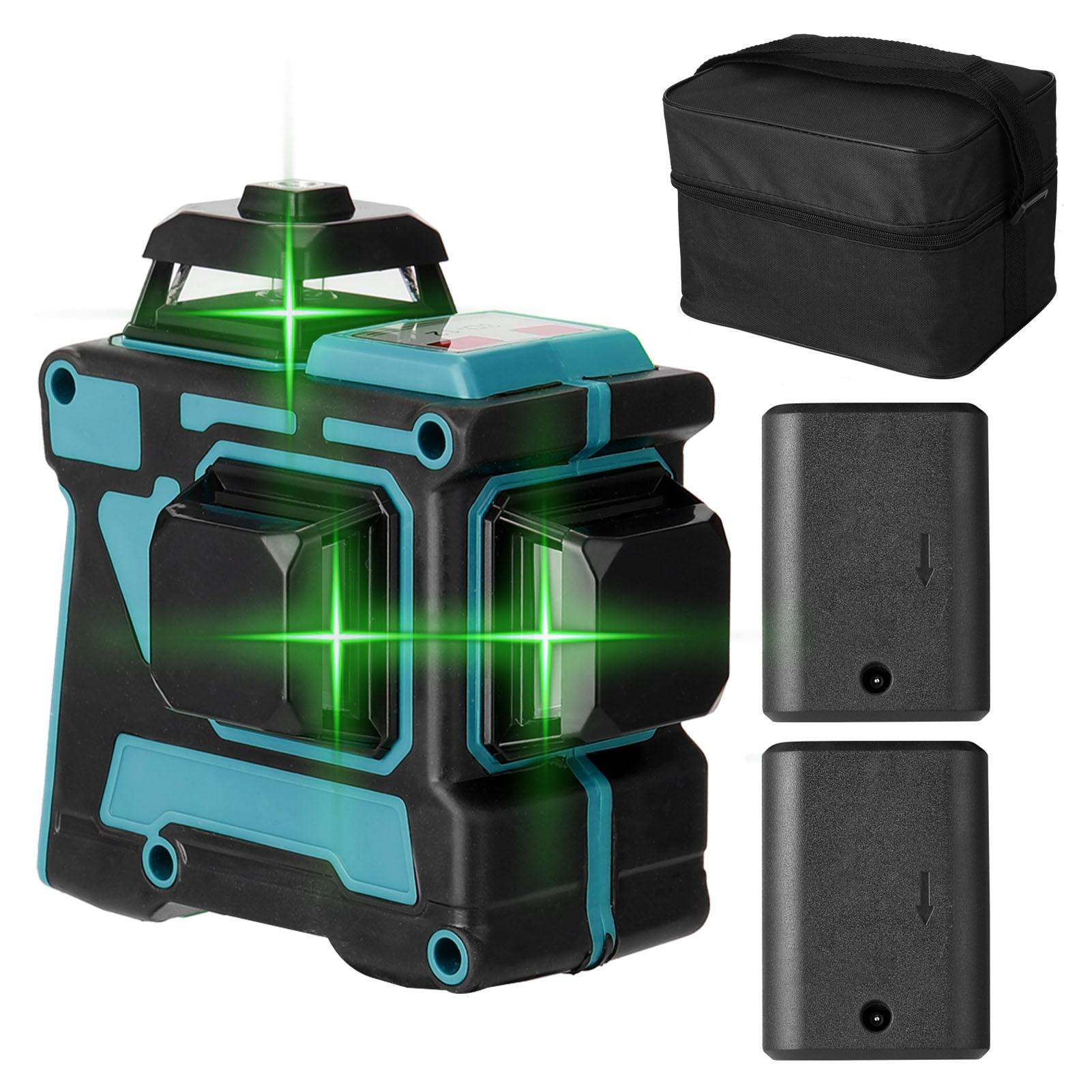 KKmoon 12 خطوط ثلاثية الأبعاد مستوى الليزر متعدد الوظائف التسوية الذاتية 360 مستوى الليزر خطوط أفقية وعمودية في الأماكن المغلقة والهواء الطلق