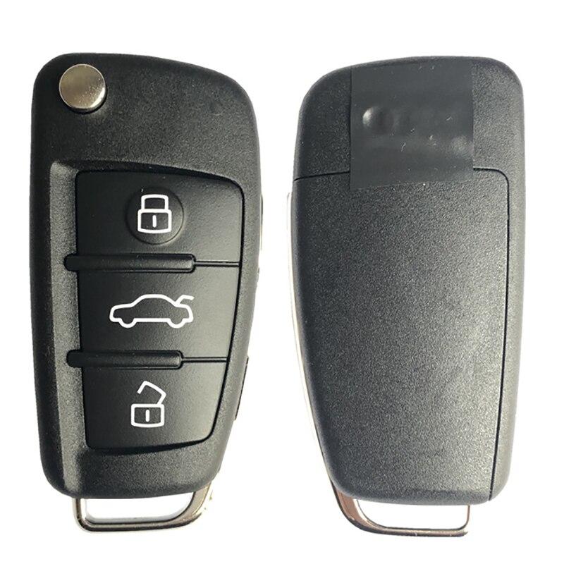 CN008078 مفتاح تشغيل أصلي بدون مفتاح لأودي Q7 A6 S6 2006 + مع 3 أزرار 8E رقاقة 868MHz 4F0837220AK بدون مفتاح Go