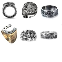 rings free shipping vintage fathers day gifts vintage multiple eyes of god jewelry nordic mythology viking warrior wolf head