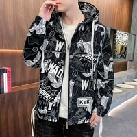 mens jackets spring autumn camouflage hooded coats casual zipper male thin windbreaker new mens outerwear brand clothing 3xl