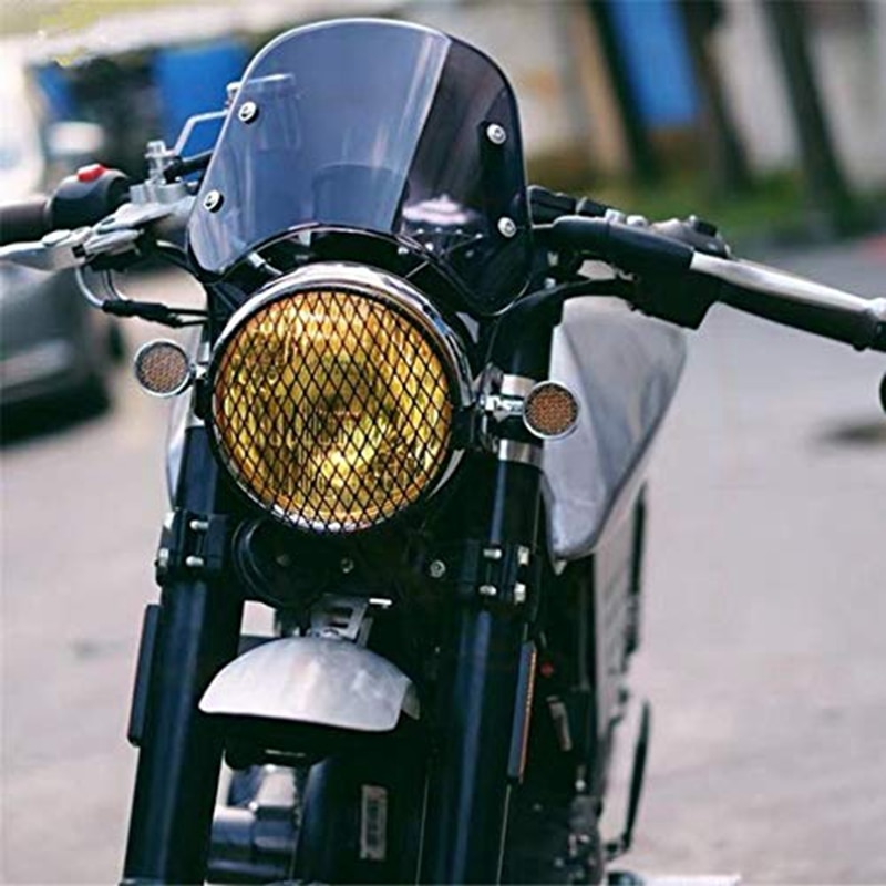 Faro de motocicleta carenado parabrisas Compatible con Triumph Bonneville 2001-2017, T100 2003-2017 (humo)