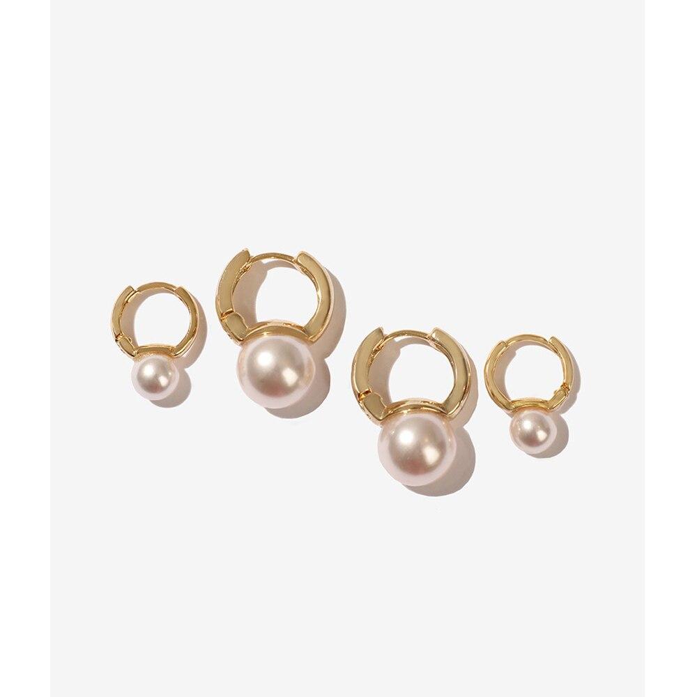 2019 nuevos pendientes de perlas naturales de agua dulce 14KGF mini aro hecho a mano moda regalo de fiesta encanto Vintage joyería