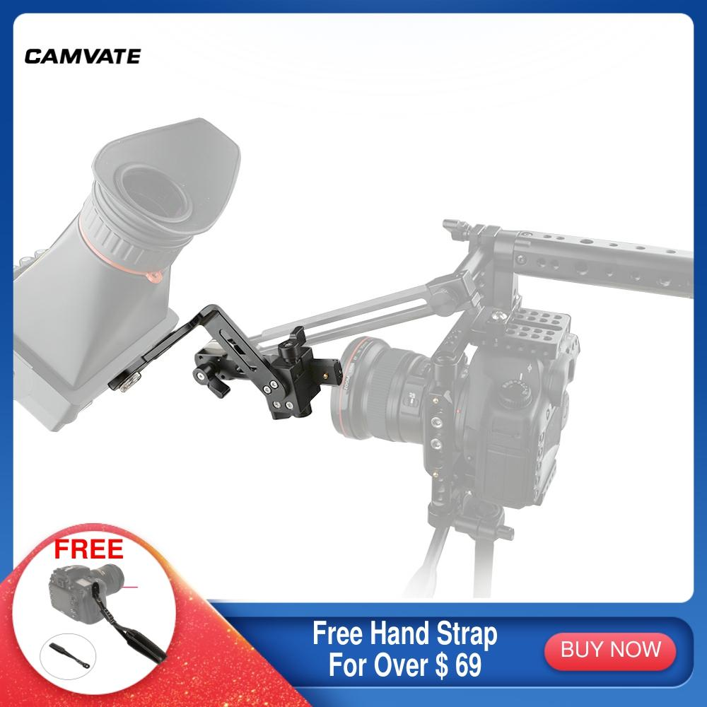 CAMVATE-ذراع ربط على شكل حرف L دوار 360 درجة ، مع سكة الناتو وآري روزيت M6 ، حامل لولبي لـ EVF/شاشة/مصباح يدوي