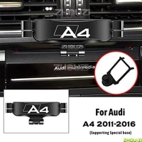 car mobile phone holder air vent mounts stand gps gravity navigation bracket for audi a4 b8 8kh 2011 2016 car accessories