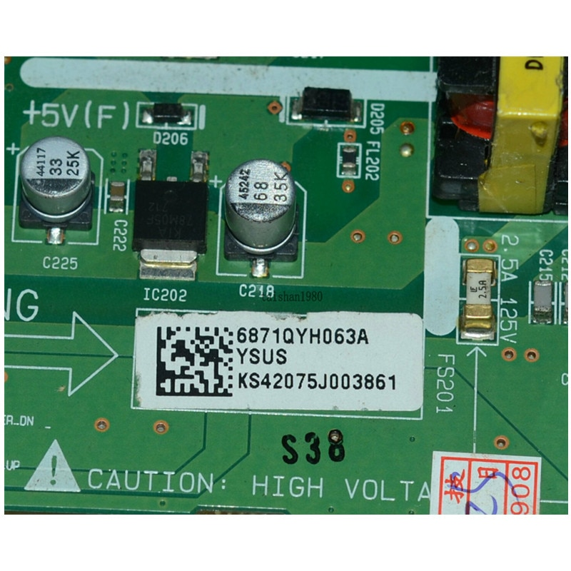 Ysus Board 6870QYH008A 6871QYH063A FOR LG PDP42X4 PDP42 enlarge