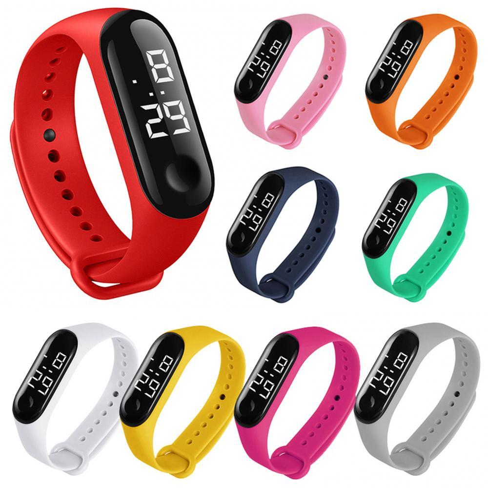 50%HOT M3 Children Solid Color Adjustable Strap LED Digital Electronic Wrist Watch