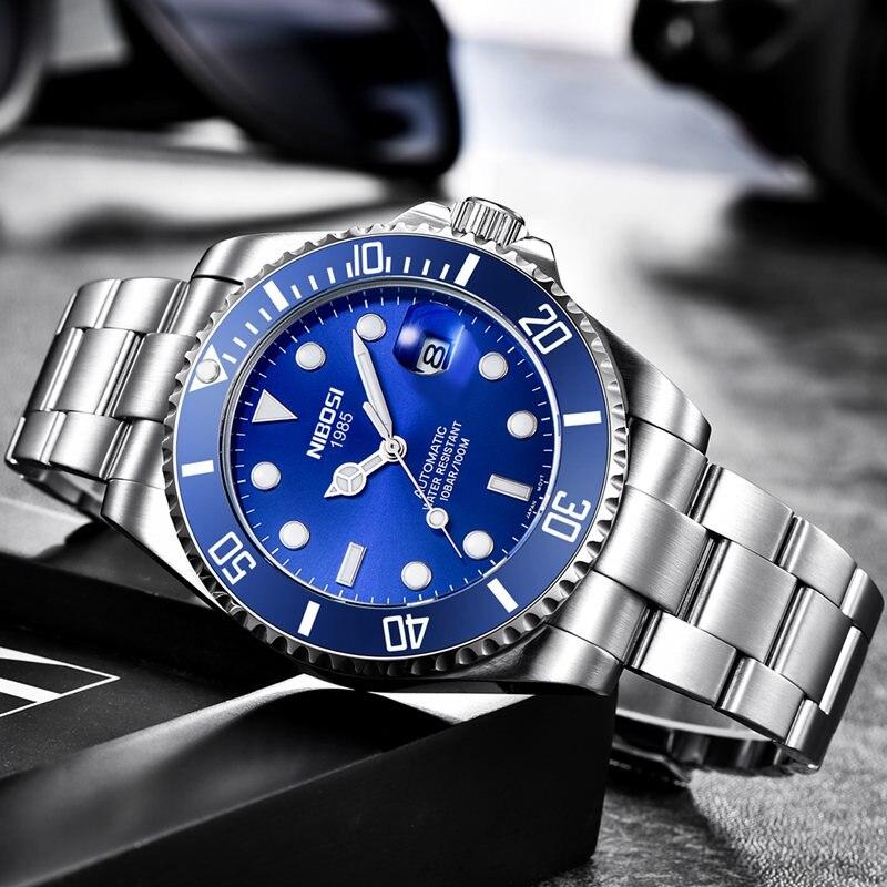 NIBOSI Top Brand Luxury Fashion Diver Watch Men Waterproof Date Clock Sport Watches Mens Quartz Wristwatch Relogio Masculino