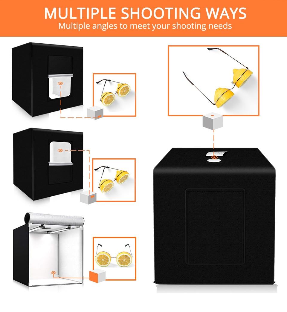II Travor M40 photo box 40cm*40cm Dimmable Studio softbox Table Photography Shooting Tent with light modulator lightbox enlarge