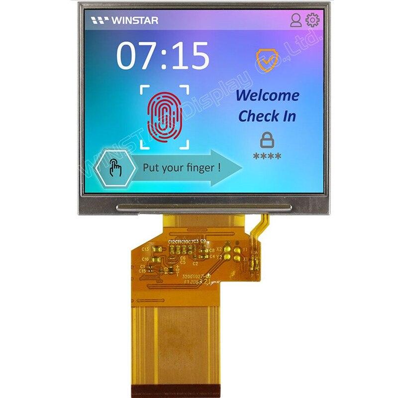 Pantalla táctil LCD TFT Winstar WF35LTIACDNN0 de 3,5 pulgadas con placa controladora de pantalla nueva y original