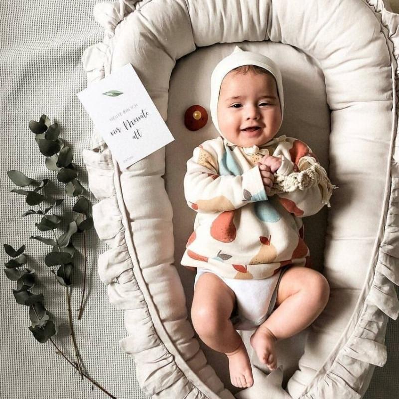 Baby Newborn Sleeping Bag with Pillow Portable Crib Travel Infant Toddler Baby Bed Bassinet Bumper Blanket Bedding Set Kids Room