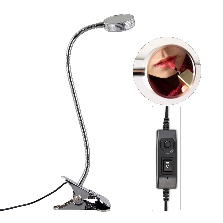 Зажим настольная лампа дизайн USB регулируемый холодный белый настольный