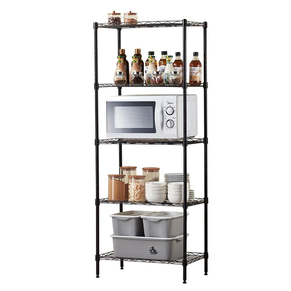 Kitchen racks floor multi-layer space saving simple vegetable pot rack oven microwave oven storage storage shelf YPF080938