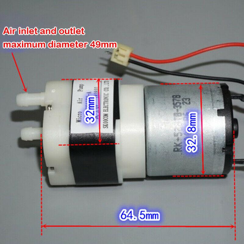 Bomba de oxígeno de aire de agua redonda RK-528 4,5 L/min DC 1,5 V-3V de gran flujo para acuario, tanque de peces, Micro cepillo de carbón pequeño, bomba de vacío 528
