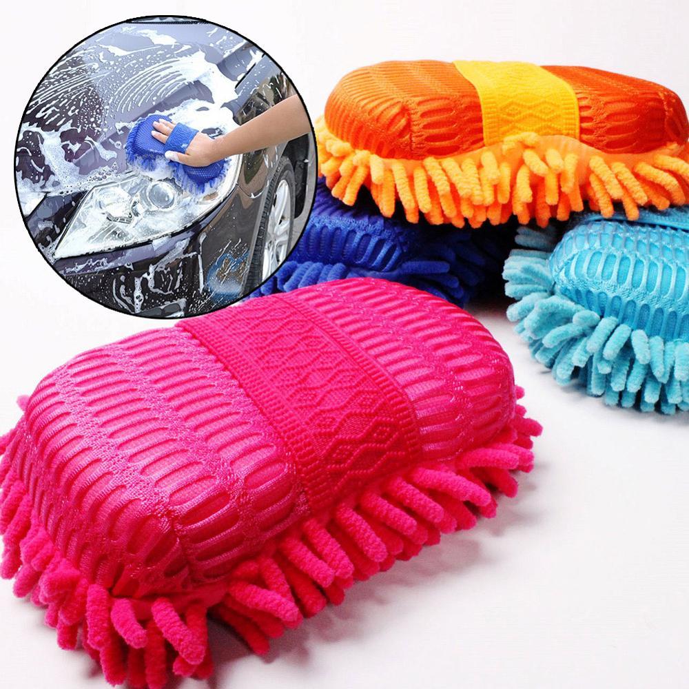 Guante de limpieza corporal de baño para ventana de coche, cepillo de lana suave para Motor de coche para motocicleta, cepillo para el cuidado de coche, herramienta de limpieza, cepillos, accesorios