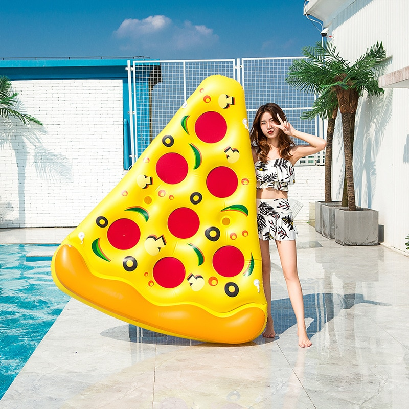 180cm giant inflatable beer cup beer bottle shap air mattress air bed adults kids floating row water fun toys beach boia piscina Pizza Floating Row Thickened PVC Water Beach Supplies Toys 180cm Floating Island Inflatable Pool Floats For Adults Water Float