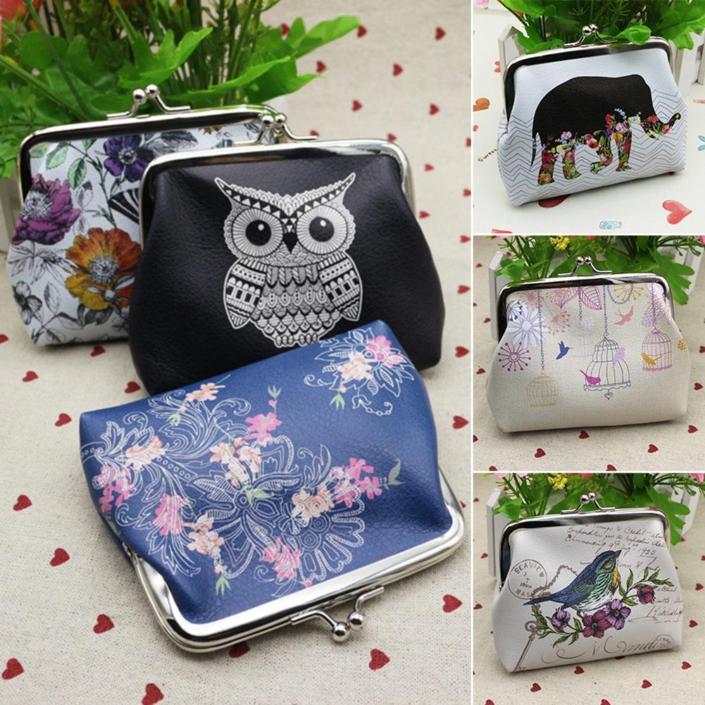 new Women Mini Owl Bird Flower Wallet Card Holder Case Coin Purse Clutch Handbag Bag