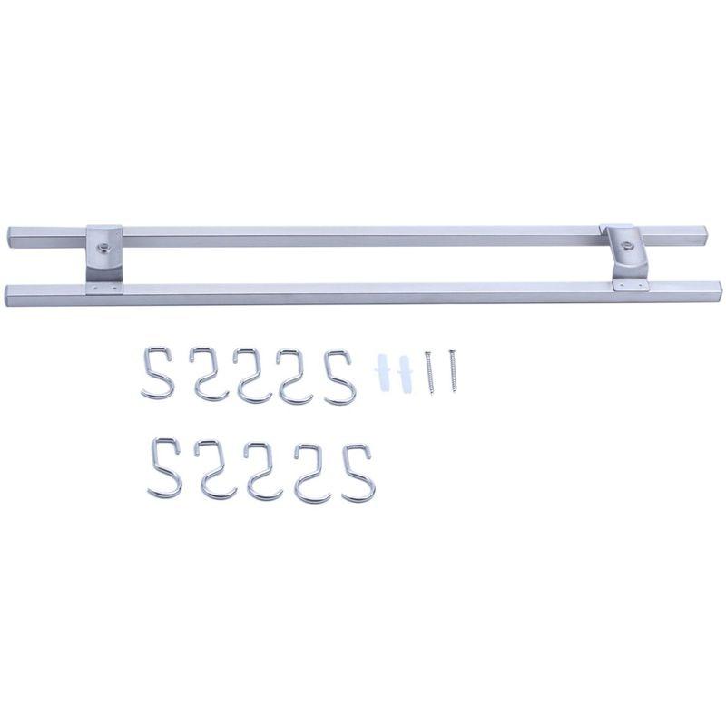 Soporte magnético para cuchillos de 18 pulgadas hecho de acero inoxidable con imán fuerte, barra de cuchillo con tira ancha y magnético Universal