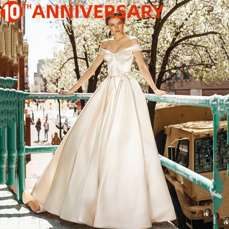 BAZIIINGAAA ++Без рукавов Off Плечо Простая Шелк Органза Свадьба Без спинки +Ремешок Мода Невеста Поддержка По индивидуальному заказу